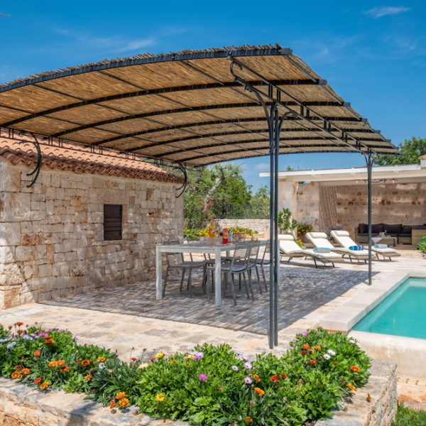 Gazebo piscina L'Antica Dimora - Trulli Oasi Fiorita (3)