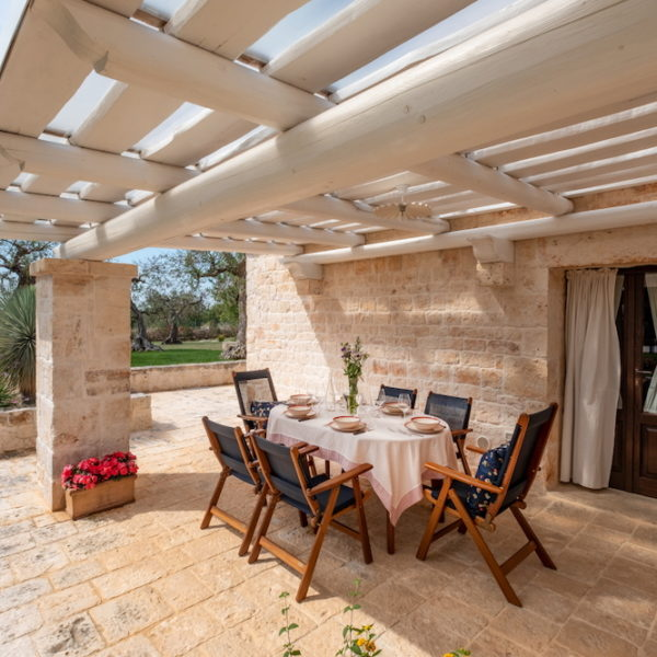 Veranda cucinca interna L'Antica Dimora - Trulli Oasi Fiorita